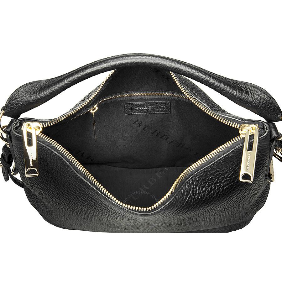 Burberry Ledbury Small Black Hobo Bag