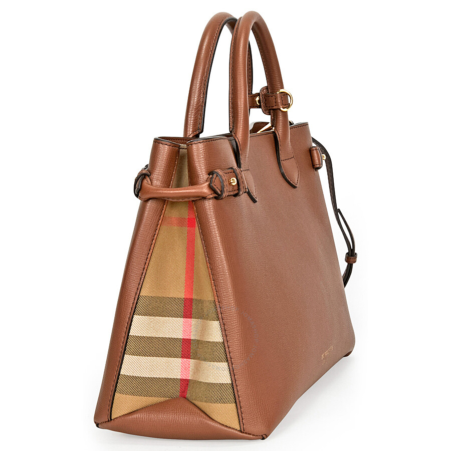 Cheap Outlet Store The Medium Banner in Leather and House Check - Brown Burberry Cheap Sale Visit Cheap Best Discount Cost 2018 New gknFwF5