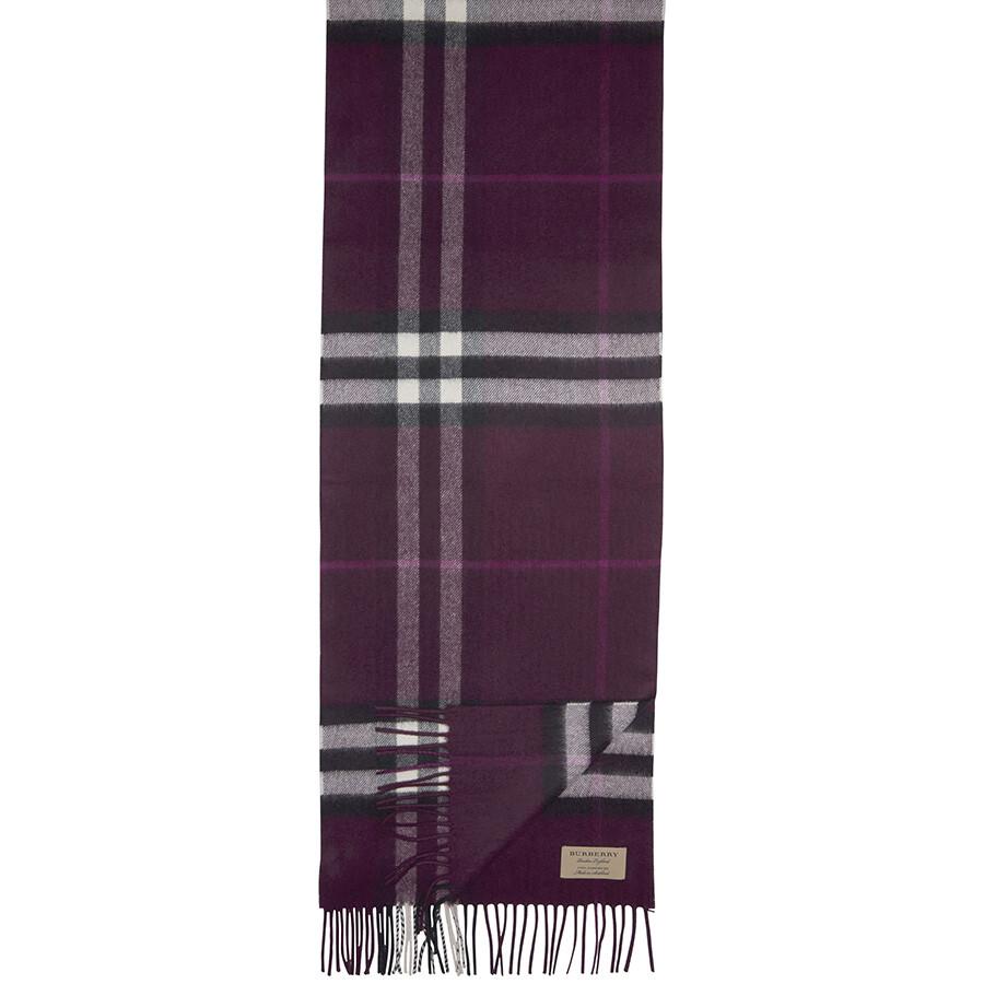 cd1ccbce2ca0c shop burberry the classic cashmere scarf aubergine 43462 04f60