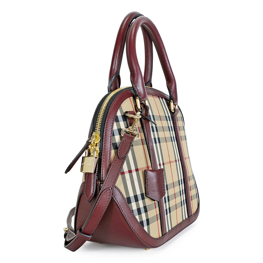 Burberry The Small Orchard Bowling Bag Honey Claret