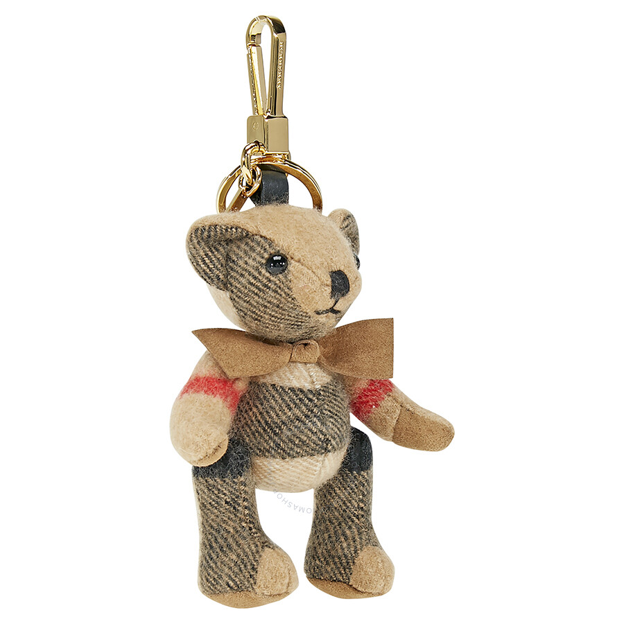 Thomas Bear Charm in Check Cashmere - Red Burberry X5ThKs9z