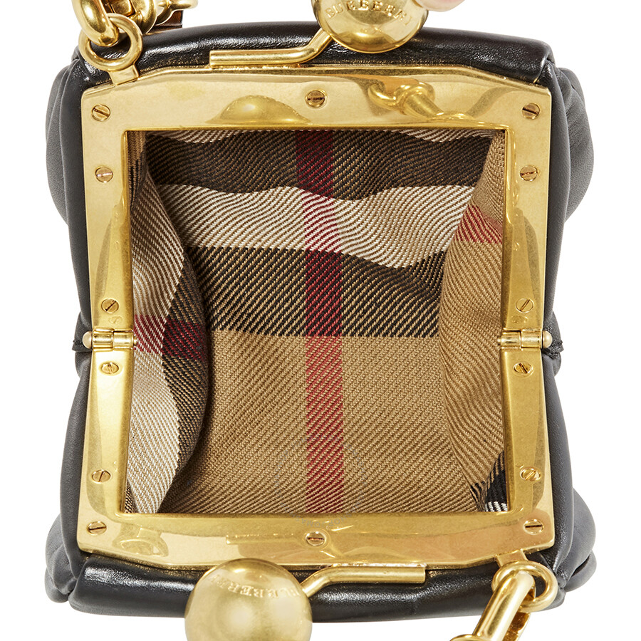 Burberry Two Tone Mini Frame Bag - Black/Brown - Burberry Handbags ...