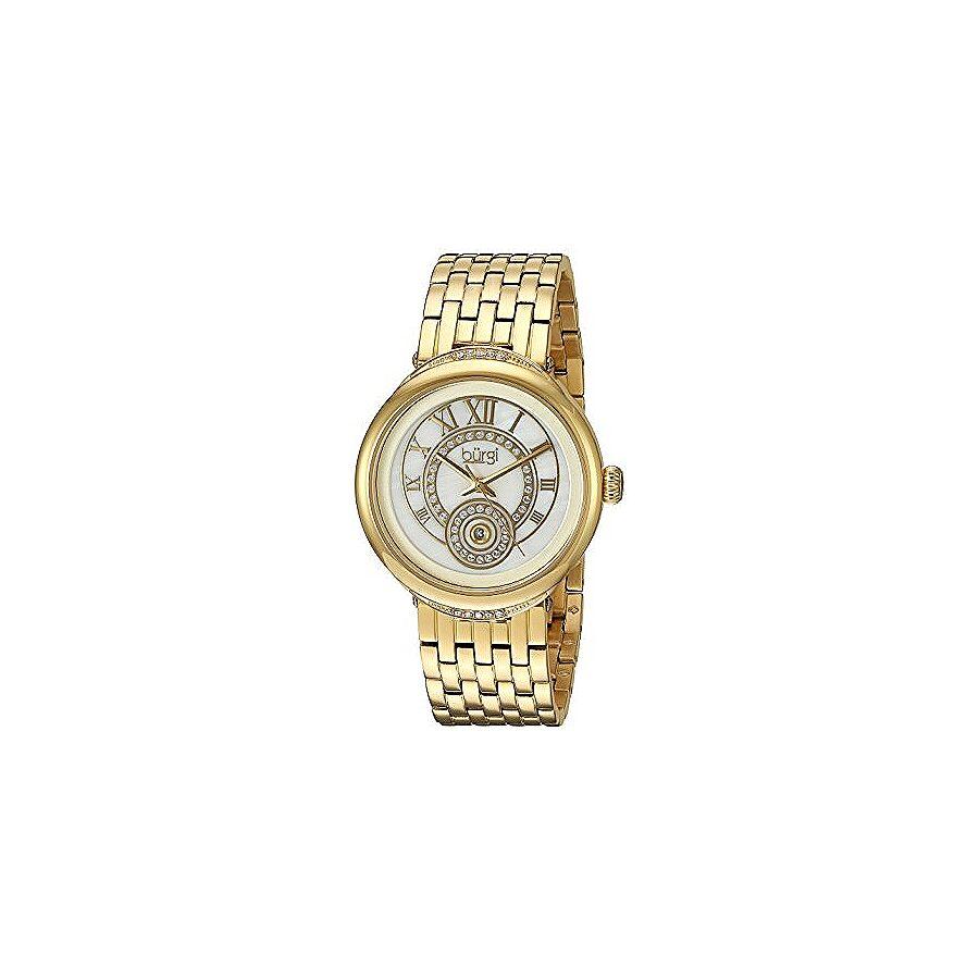 Burgi Mother Of Pearl Dial Ladies Gold Tone Watch BUR164YG