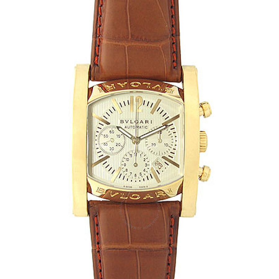 Bvlgari Assioma Ivory Dial Mens Watch AA44C13GLD