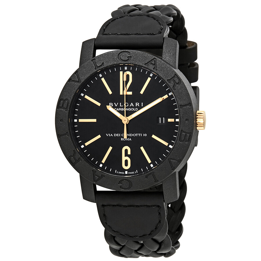 Bvlgari automatic black dial men 39 s watch 102632 bvlgari bvlgari bvlgari watches jomashop for Bvlgari watches