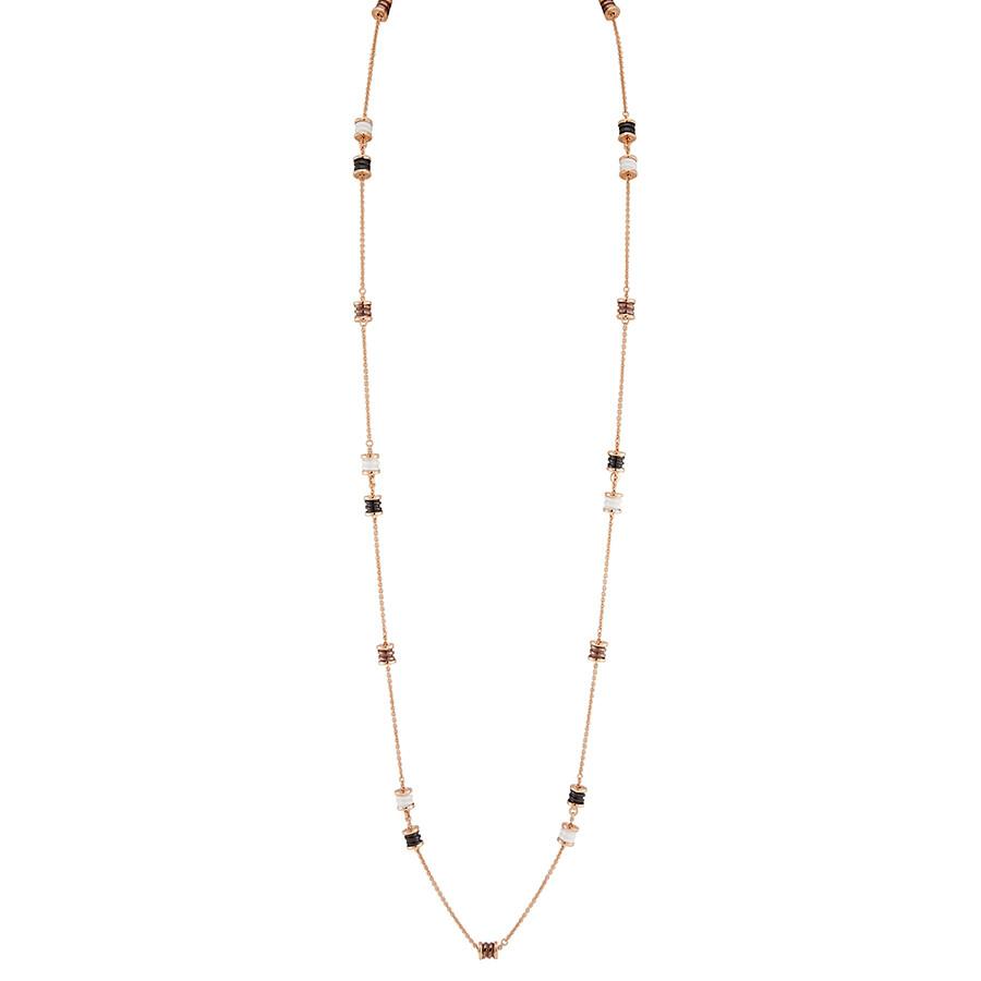 e55d9cc2f66c1 Bvlgari B.Zero1 18K Pink Gold and Ceramic Necklace 353002