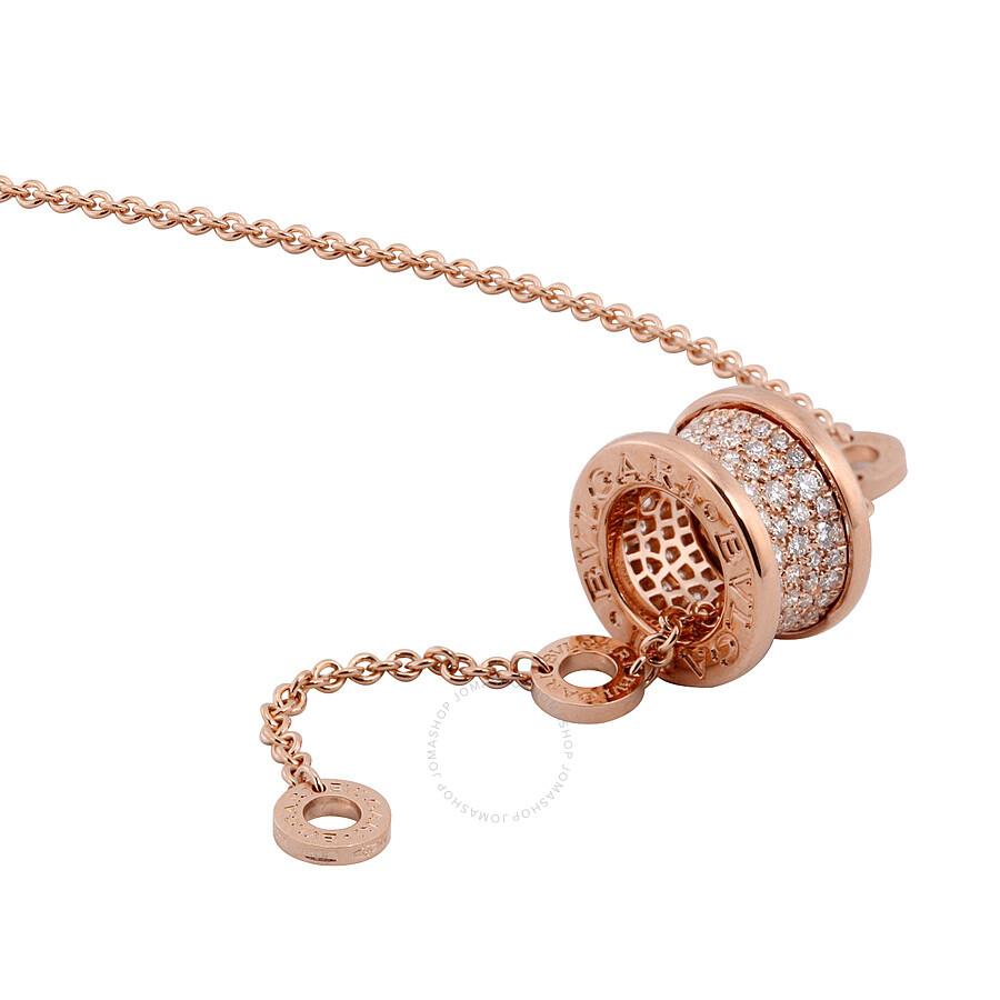 Bvlgari bzero1 18k pink gold diamond necklace 348035 bvlgari bvlgari bzero1 18k pink gold diamond necklace 348035 aloadofball Images