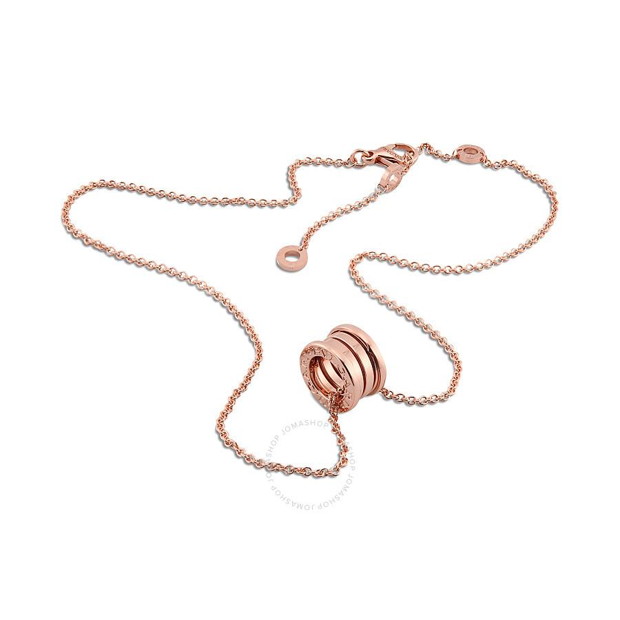Bvlgari bzero1 18k pink gold pendant with chain 335924 bvlgari bvlgari bzero1 18k pink gold pendant with chain 335924 aloadofball Images