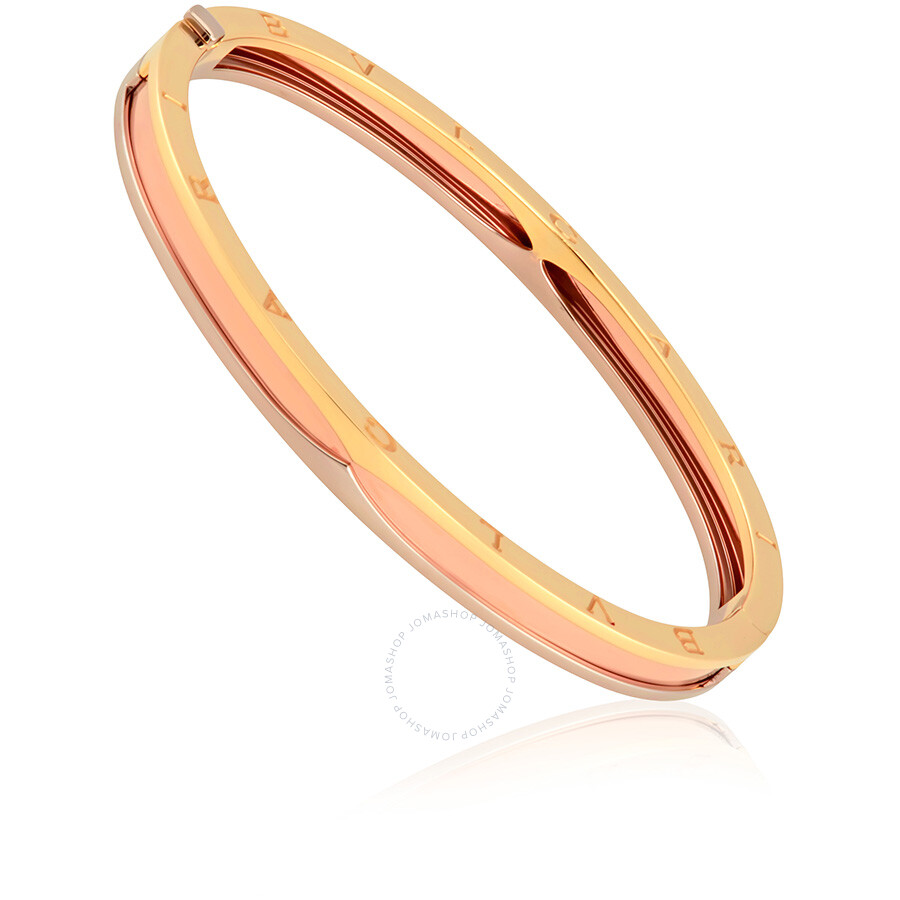 Bvlgari B.Zero1 18K Pink White and Yellow Gold Bangle - Medium
