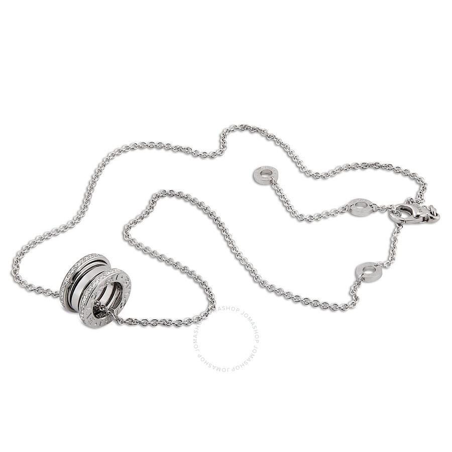 Bvlgari bzero1 18k white gold diamond necklace 350054 bvlgari bvlgari bzero1 18k white gold diamond necklace 350054 aloadofball Images