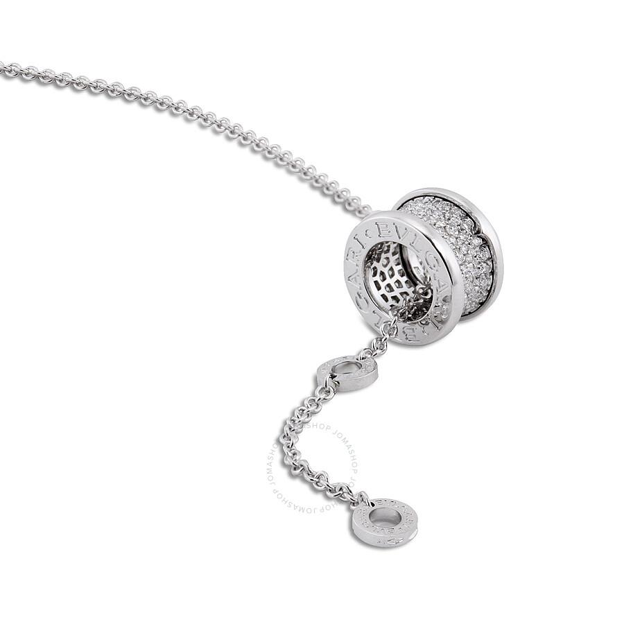 Bvlgari bzero1 18k white gold diamond pendant 346167 bvlgari bvlgari bzero1 18k white gold diamond pendant 346167 aloadofball Images
