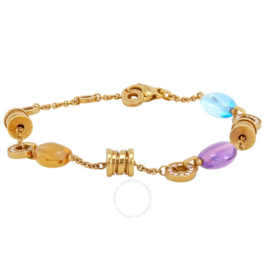 Bvlgari B.Zero1 18K Yellow Gold Gemstone Bracelet 343196