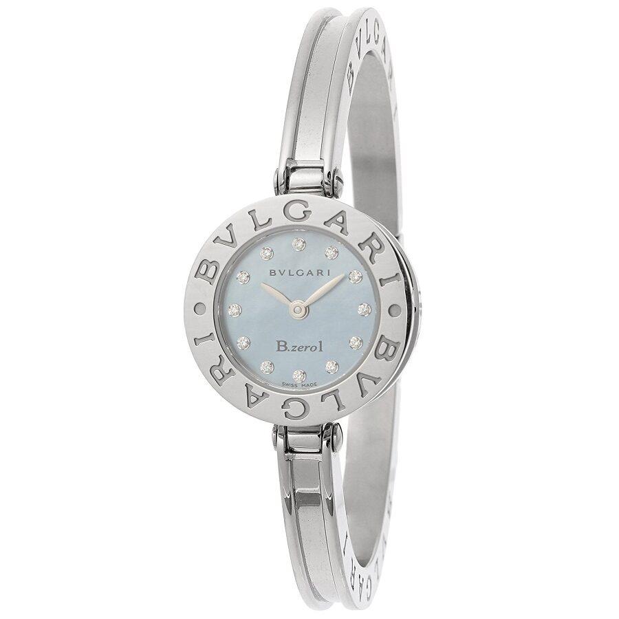 Bvlgari B.zero1 Mother of Pearl Dial Stainless Steel Bangle Bracelet Ladies ..