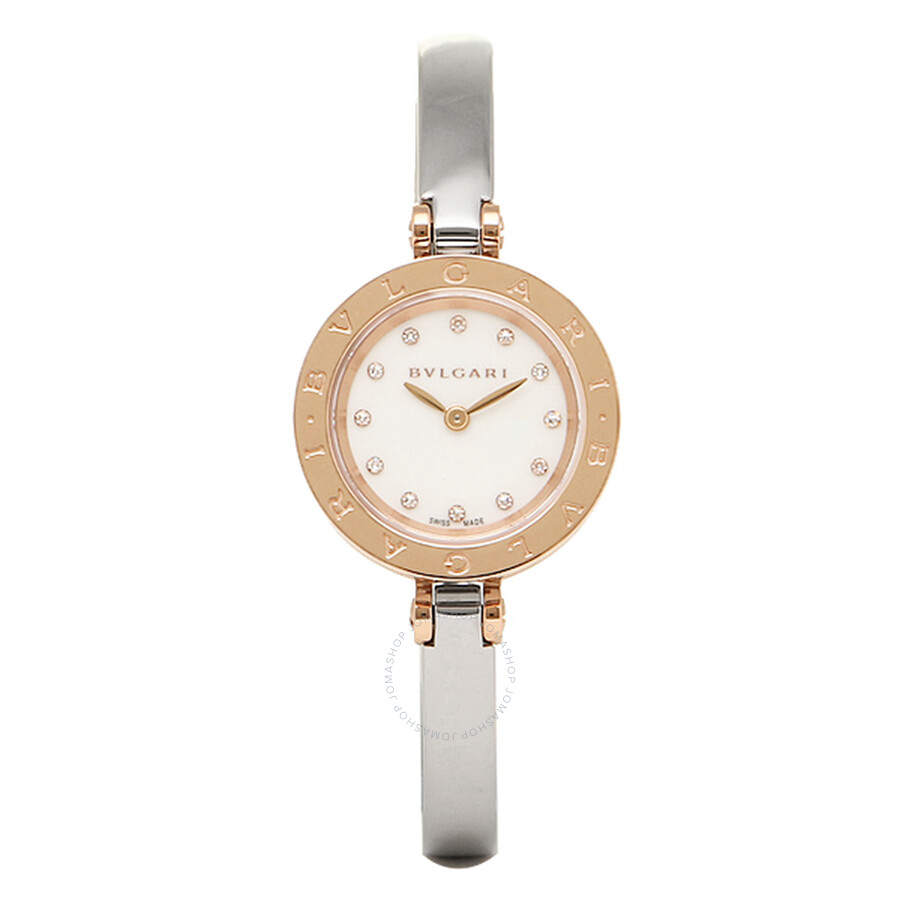Bvlgari B.Zero1 White Diamond Dial Ladies Watch 102418