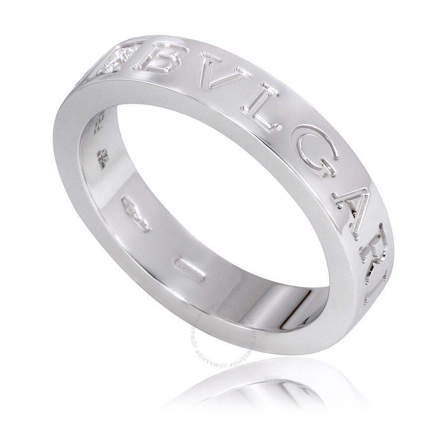 bvlgari bvlgari 18k white gold diamond ring size 65 photo