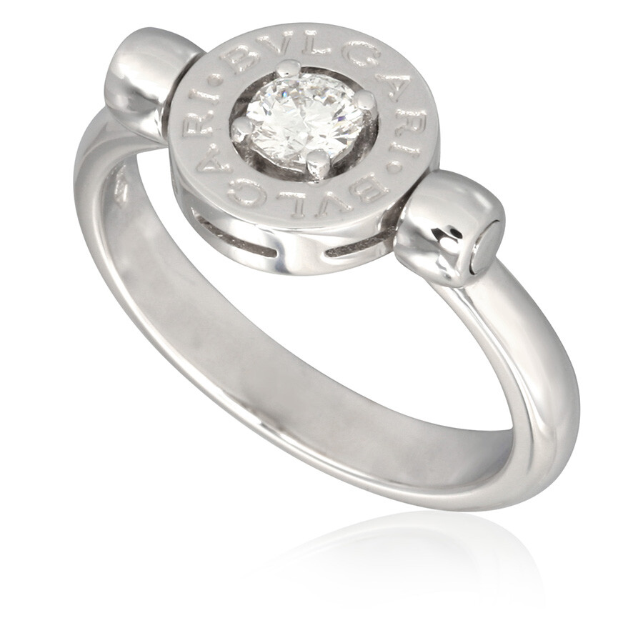 bvlgari bvlgari 18k white gold diamond ring size 775 photo
