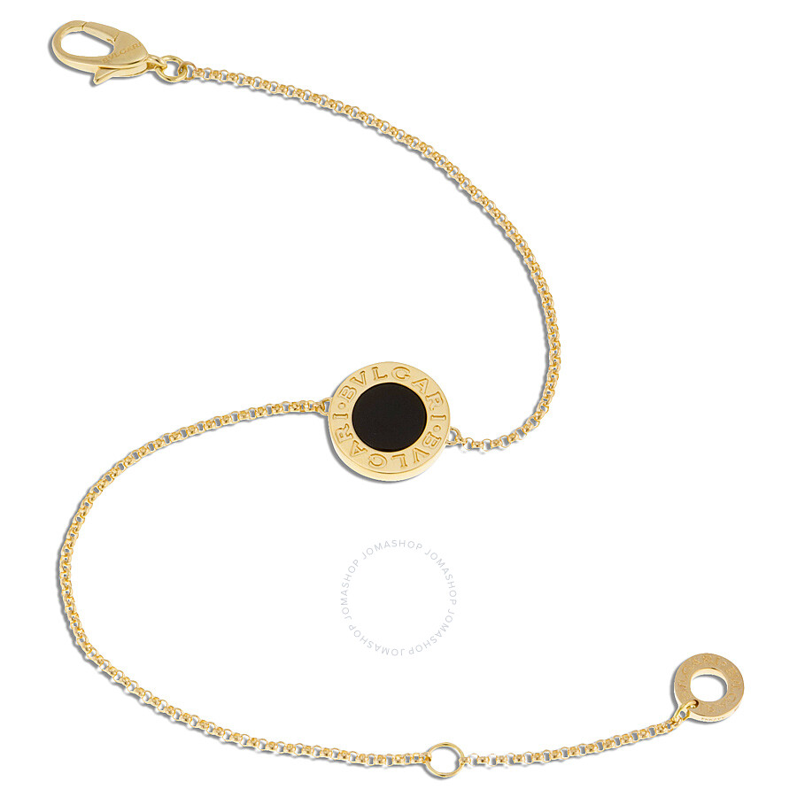 Bvlgari Bvlgari 18K Yellow Gold Onyx Bracelet 350551