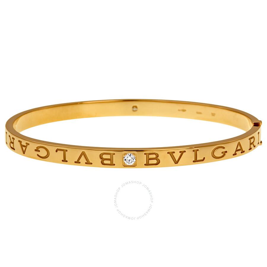 Bvlgari Bvlgari 18kt Pink Gold Diamond Bangle - Large