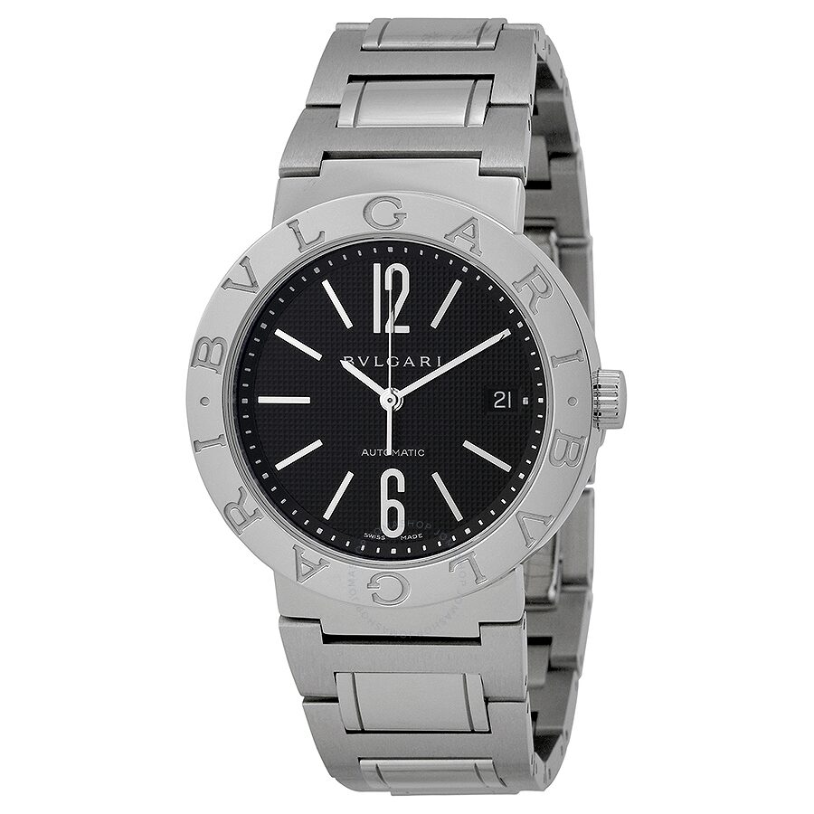 Bvlgari bvlgari automatic black dial stainless steel men 39 s watch 101370 bvlgari bvlgari for Bvlgari watches