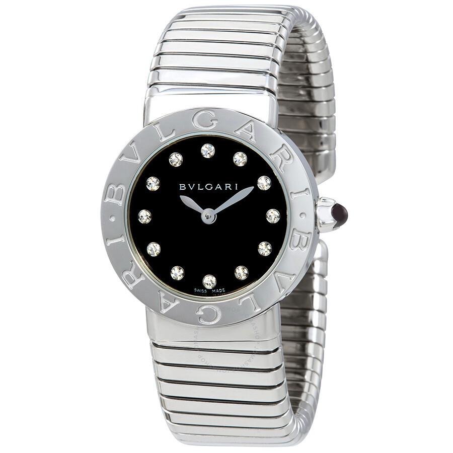 Bvlgari Bvlgari Black Dial Stainless Steel Small Ladies Watch 102223