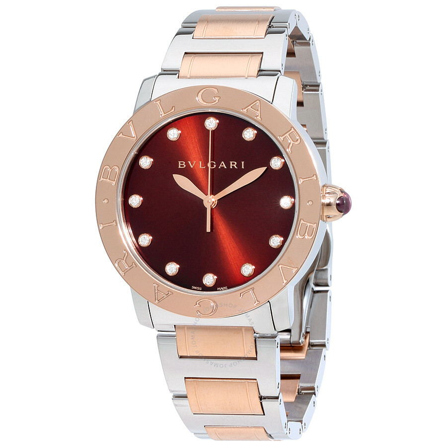 steel reebonz women watches pad ca bvlgari steelleather leather canada stainless bgcolor mode fff
