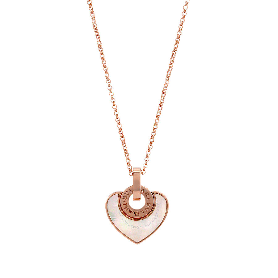 Bvlgari bvlgari cuore 18k pink gold mother of pearl pendant and bvlgari bvlgari cuore 18k pink gold mother of pearl pendant and chain necklace 350657 mozeypictures Image collections