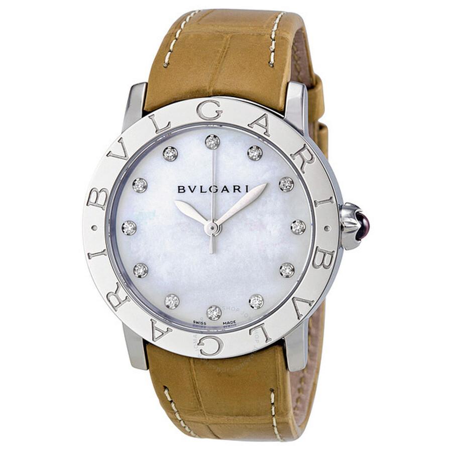Bvlgari Bvlgari Diamond Mother of Pearl Dial Ladies Watch 101892