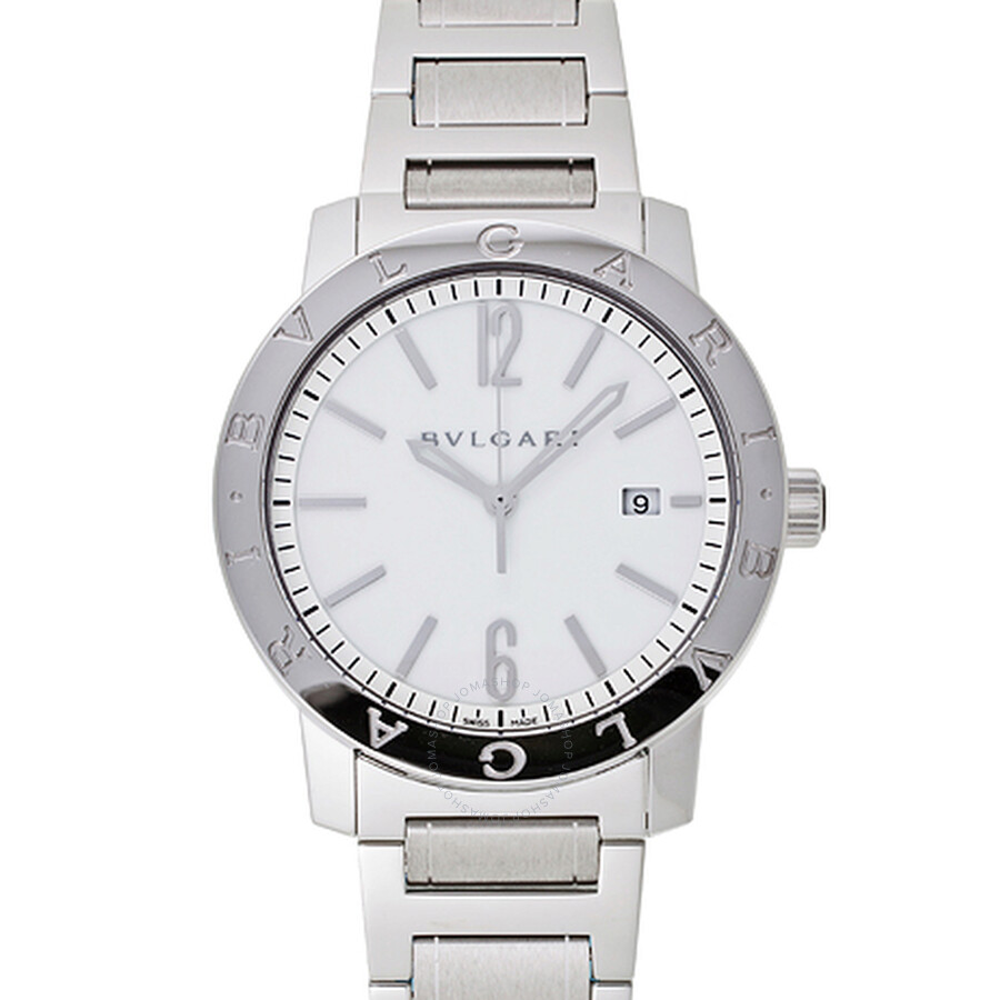 Bvlgari Bvlgari Off White Dial Stainless Steel Automatic Mens Watch 102055