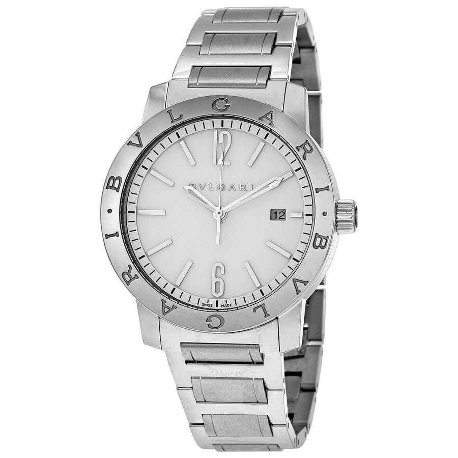 Bvlgari Bvlgari Off White Dial Stainless Steel Automatic Mens Watch 102055