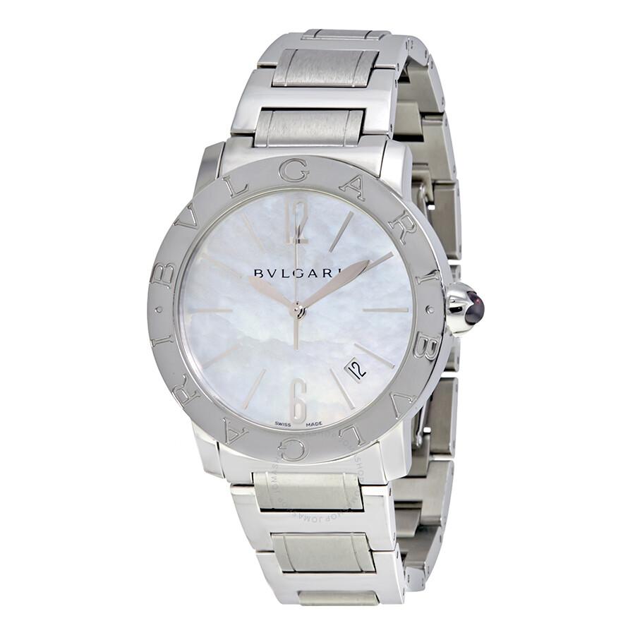 Bvlgari BVLGARI White Mother of Pearl Dial Stainless Steel Ladies Watch 101976