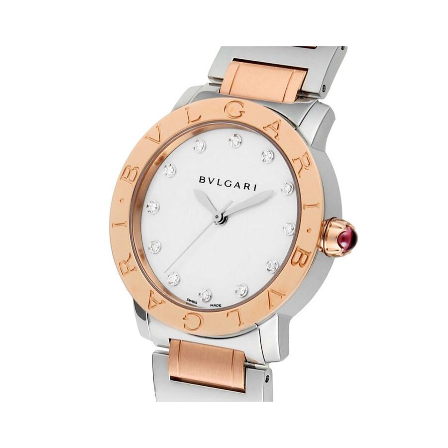 Bvlgari BVLGARI White Mother of Pearl Diamond Dial 33mm Automatic Ladies Watch 101891