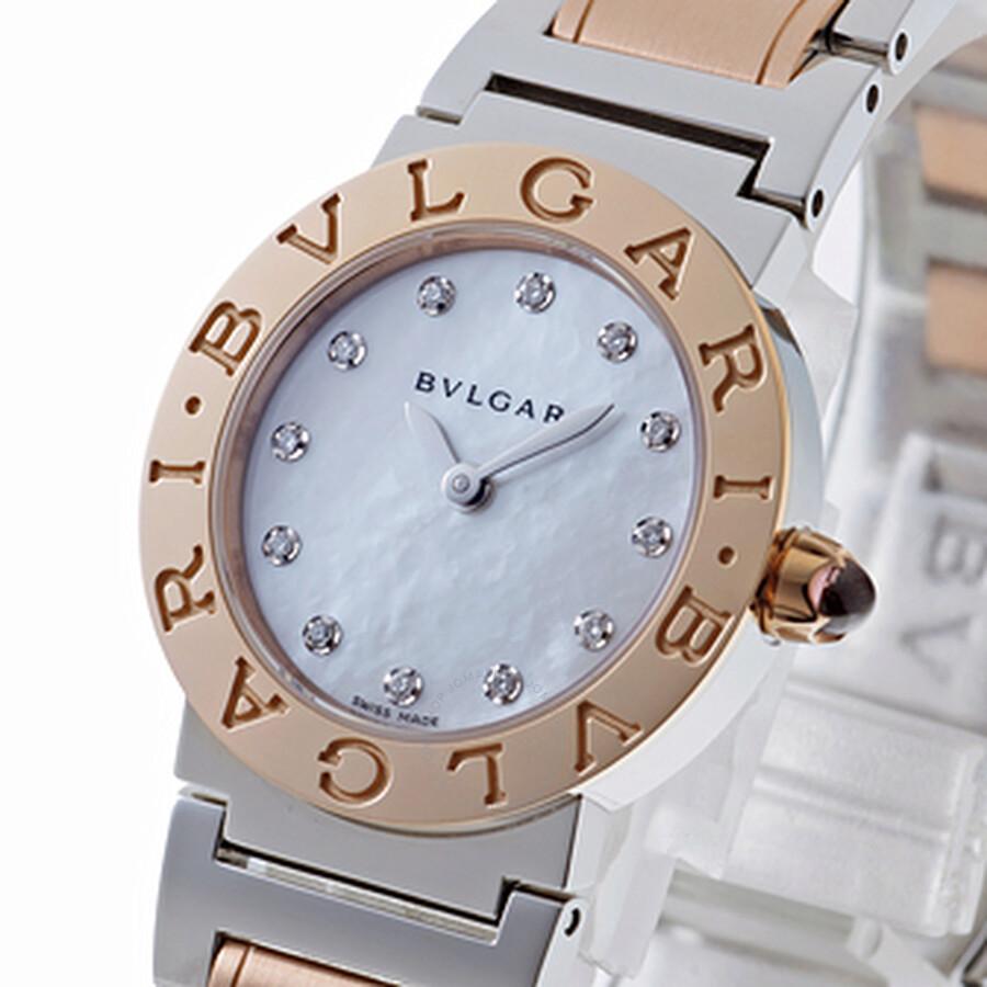 Bvlgari BVLGARI White Mother of Pearl Diamond Dial Quartz Ladies Watch 101887