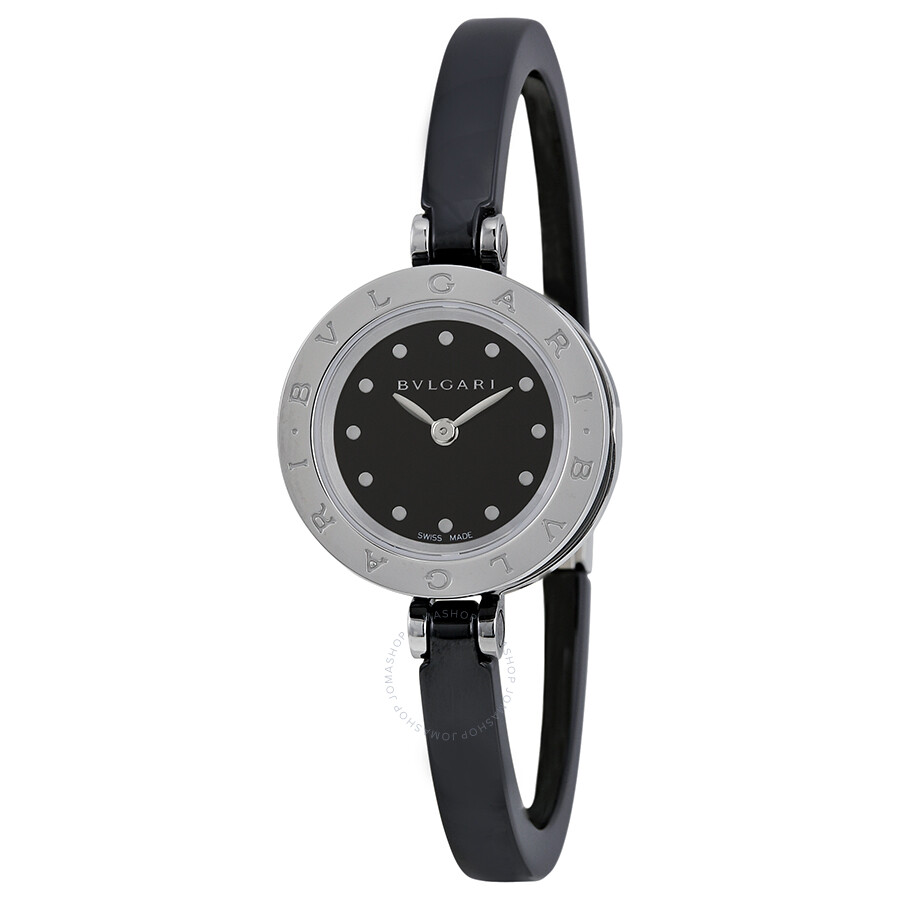 Bvlgari B.zero1 Black Dial Black Ceramic Bangle Ladies Watch 102085