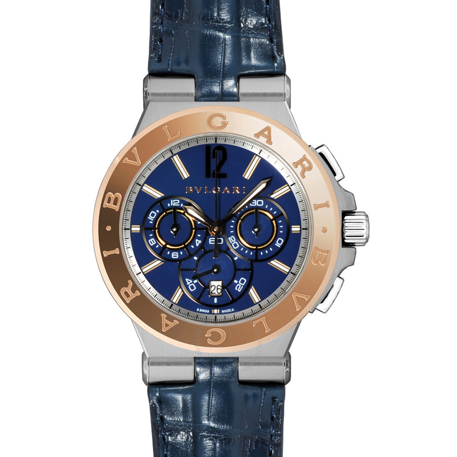 Bvlgari Diagono Blue Dial Chronograph Mens Watch 102181