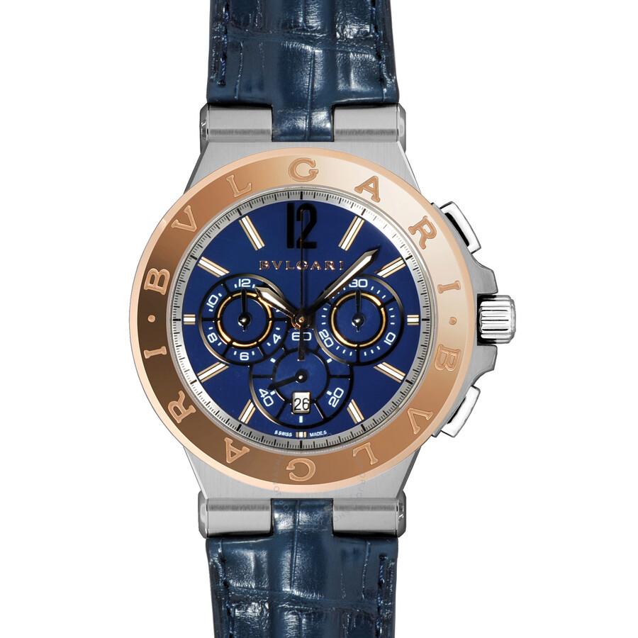 Bvlgari Diagono Blue Dial Chronograph Mens Watch 102181
