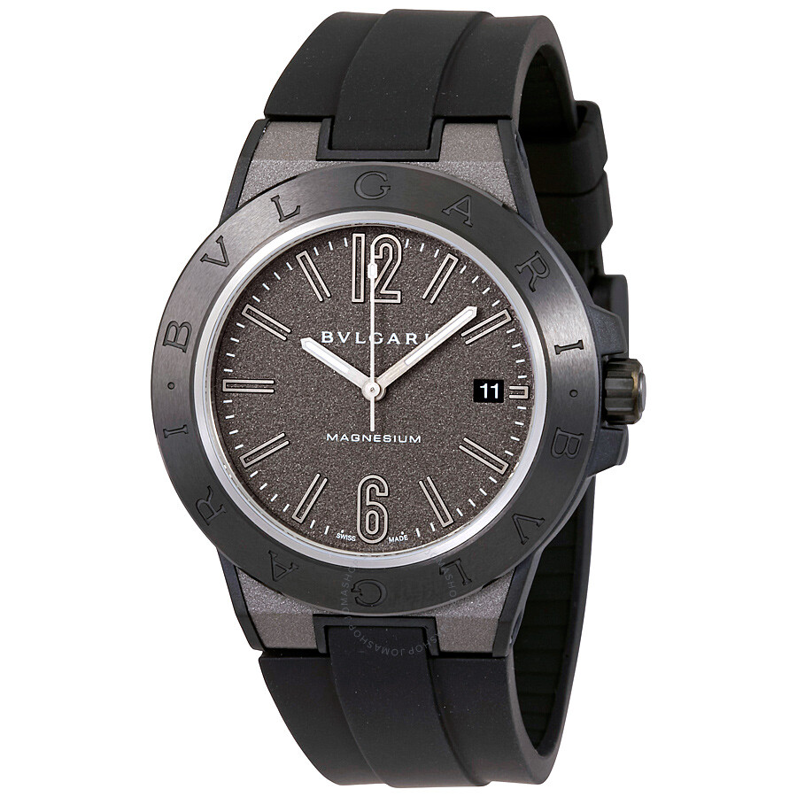 img black bvlgari steel prime chronograph watches with belt product stainless watch