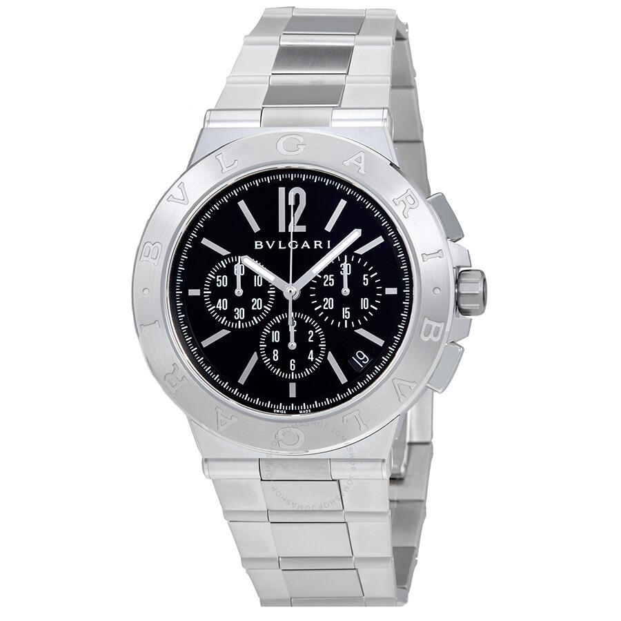 171e5344512 Bvlgari Diagono Velocissimo Black Dial Chronograph Automatic Mens Watch  102330
