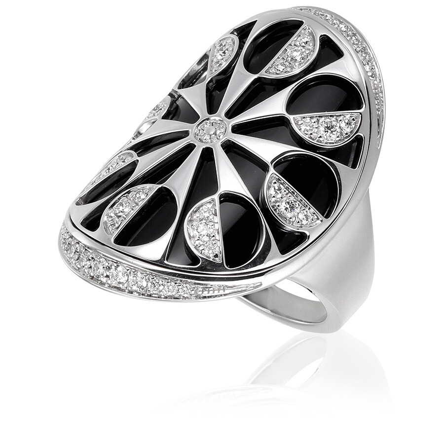 bvlgari bvlgari intarsio 18k white gold ring size 825
