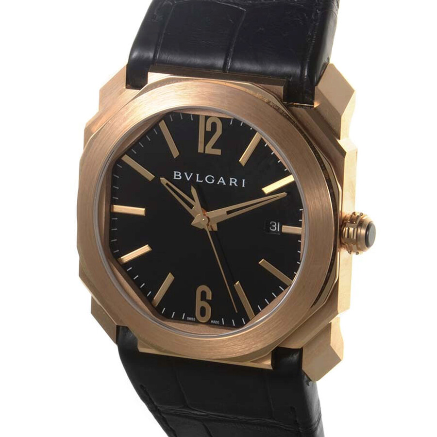 Bvlgari Octo Solotempo Black Dial Automatic Mens Watch 101963