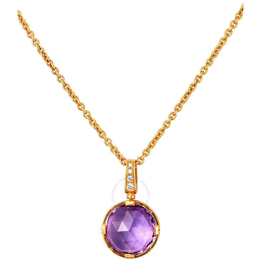 Bvlgari Parentesi 18K Rose Gold Amethyst Necklace 344849