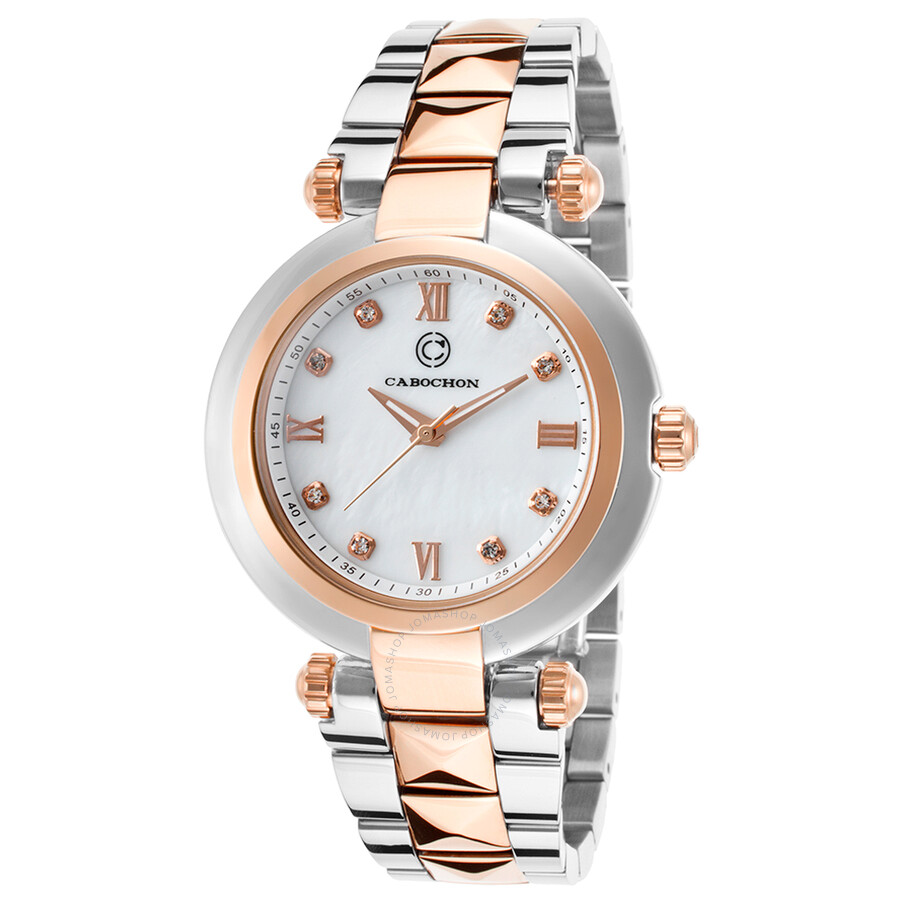 Cabochon Cairo Crystal Markers Ladies Watch CABOCHON-16088-SR-22