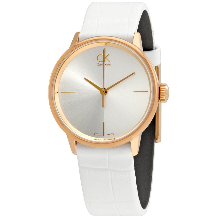 Calvin Klein Accent Silver Dial Ladies Watch K2Y2Y6K6