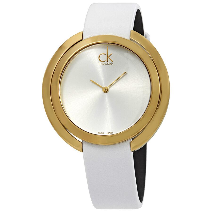 Calvin Klein Aggregate Silver Dial Ladies Watch K3U235L6