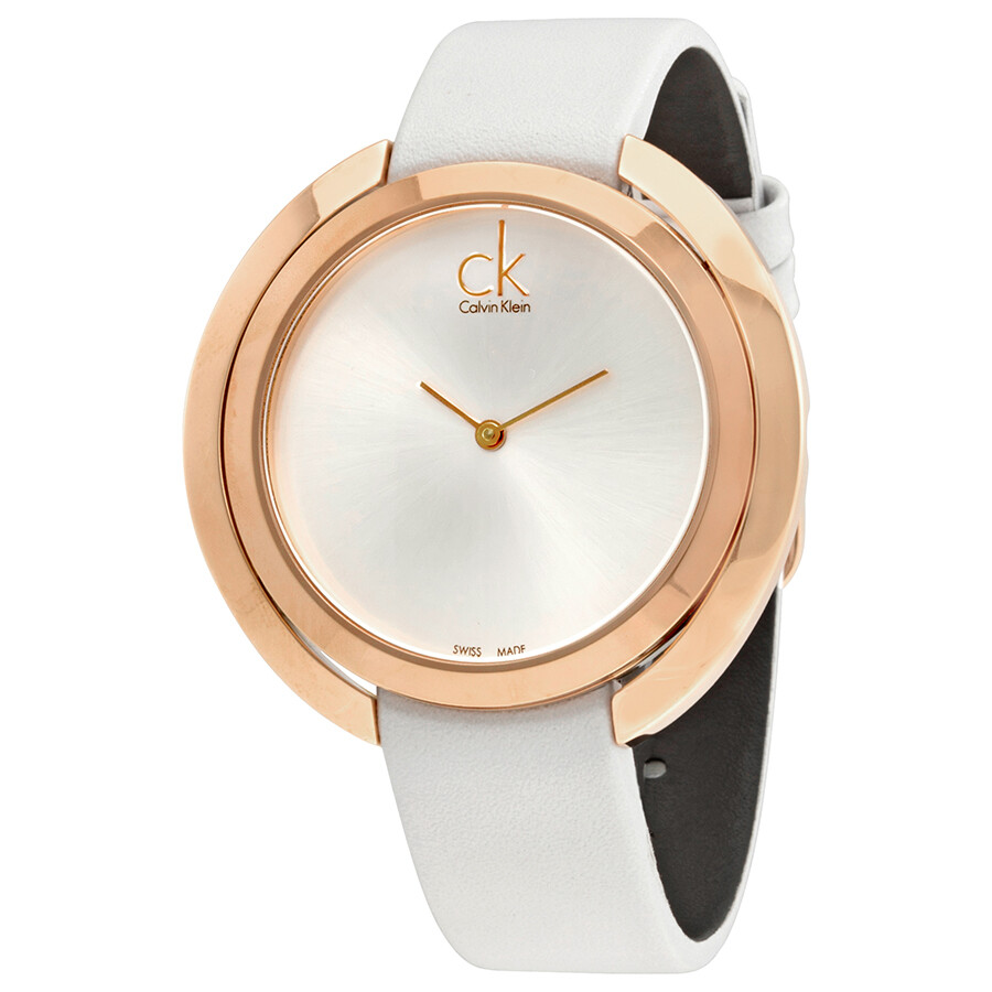 Calvin Klein Aggregate Silver Dial Ladies Watch K3U236L6