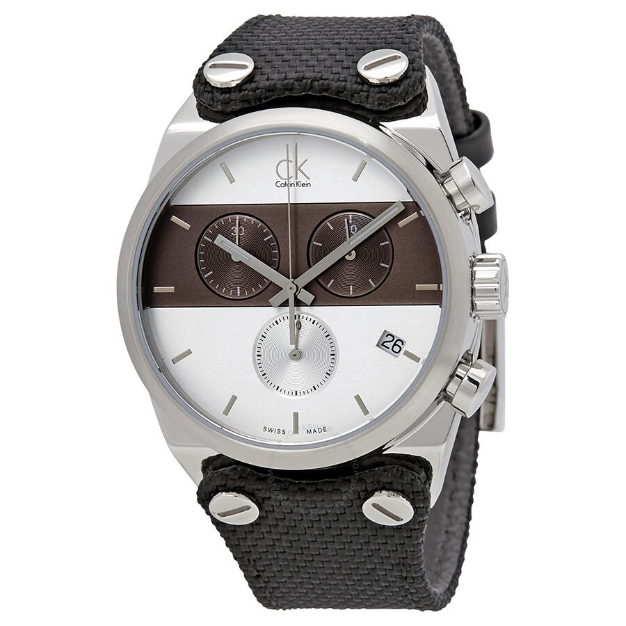 calvin klein male calvin klein eager chronograph mens watch k4b381b6