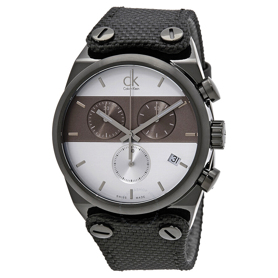 calvin klein male calvin klein eager chronograph mens watch k4b384b6