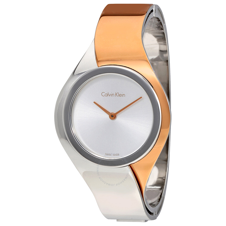 Calvin Klein Senses Silver Dial Tw-tone Ladies Watch K5N2M1Z6