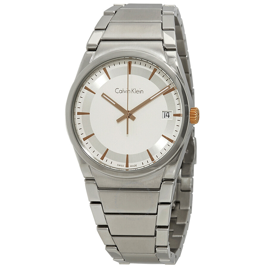 Calvin Klein Step White Dial Mens Watch K6K31B46
