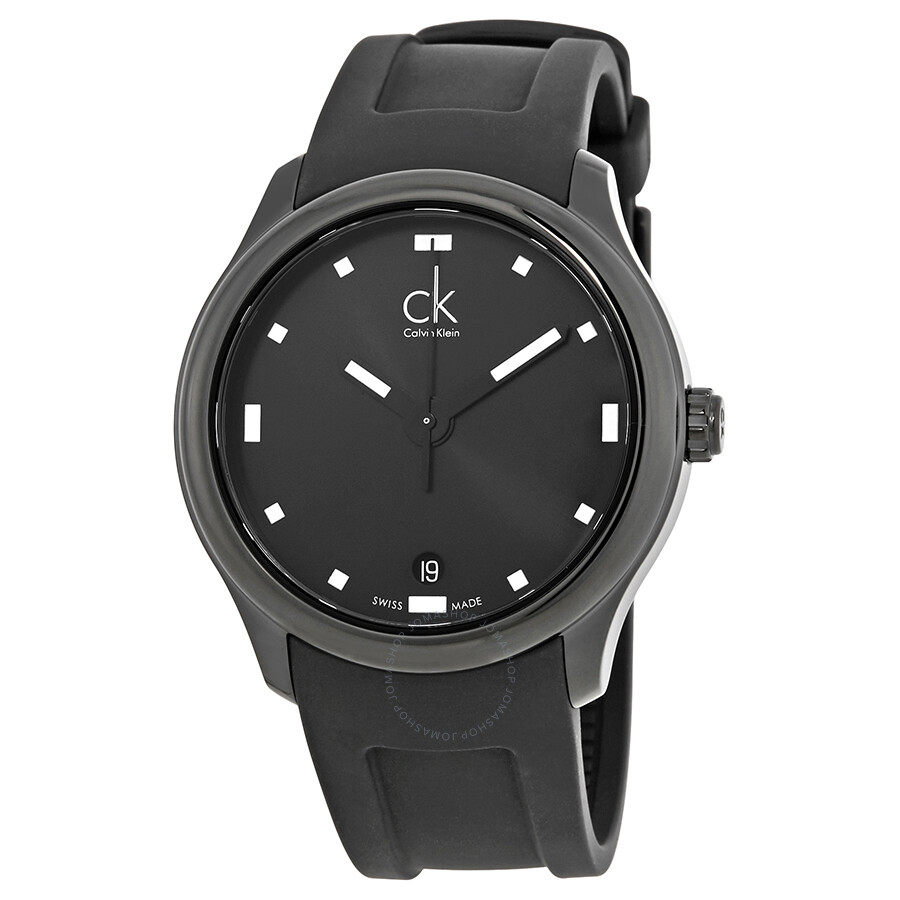 calvin klein male calvin klein visible black dial mens watch k2v214d1