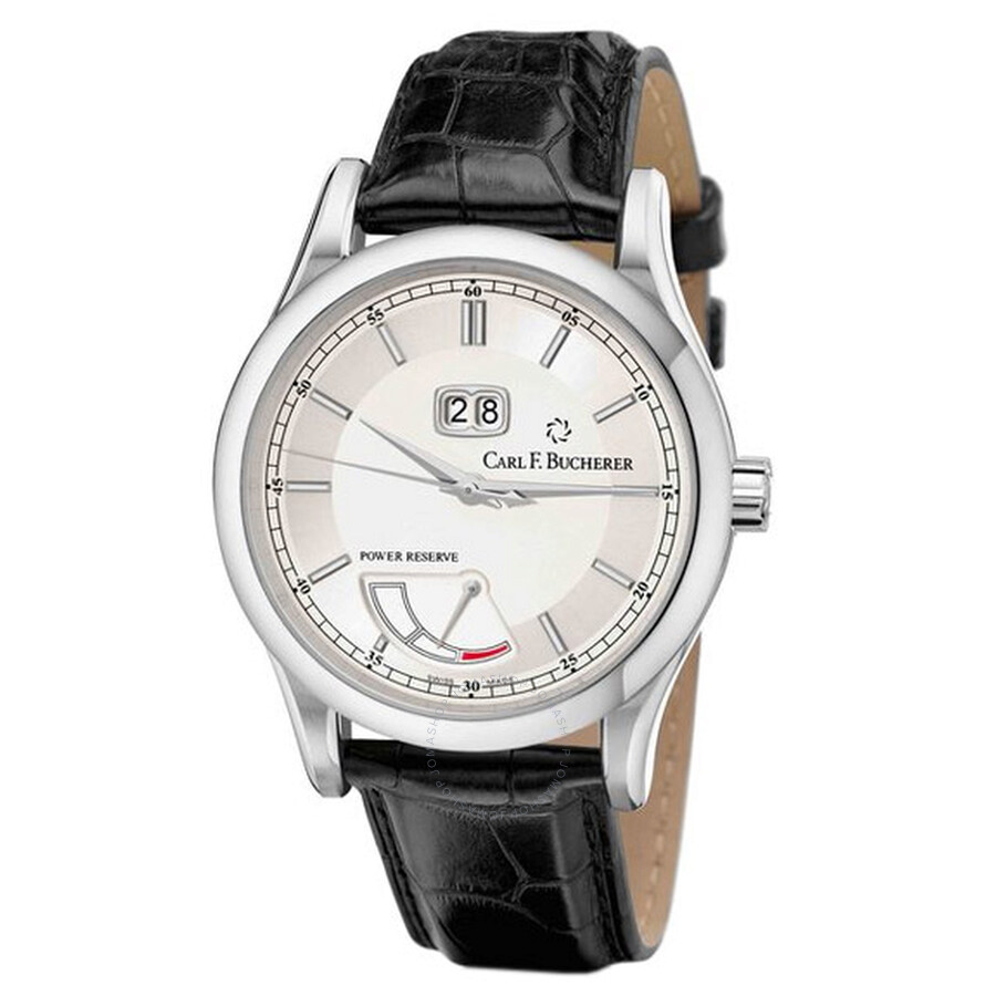 Carl F. Bucherer Manero BigDate Power Silver Dial Mens Watch 00.10905.08.13.01